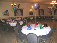 Banquet Facility Decorated for Chrismas
